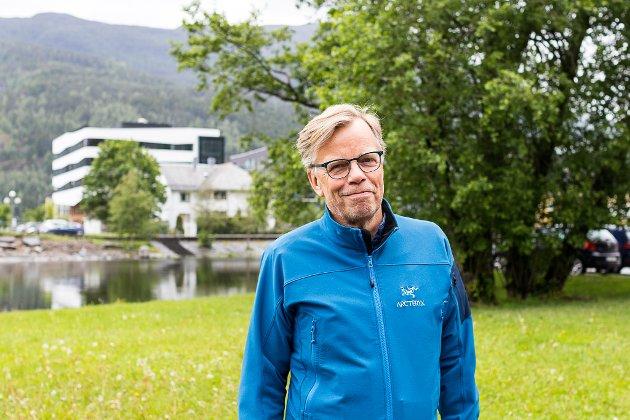 SYKKELBY: Sykkelbyen Førde???? Berre tull og vas!, skriv Odd Tanstad i artikkelom om si tolking av utspela frå Arve Seger (bildet).