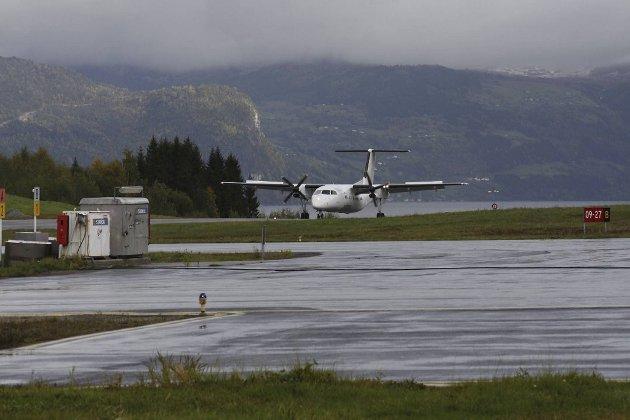 Anda i Nordfjord er den minste av de fem Avinor-flyplassene i Vestland fylke. FOTO: SVEIN HEGGHEIM, FIRDA