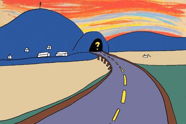 KOMMENTAR: Kvar skal den nye tunnelen i Naustdal vere?