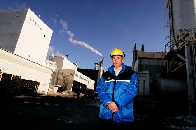 Per Thoen, norsk sjef for Kronos Titan AS som lenge har vært viktig utenlandskeid bedrift i Fredrikstad.