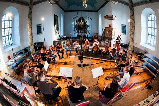 Det internasjonalt anerkjente kammerorkesteret TrondheimSolistene  i  Østre Fredrikstad kirke under Mozartestivalen 2014. De kommer igjen under årets festival.