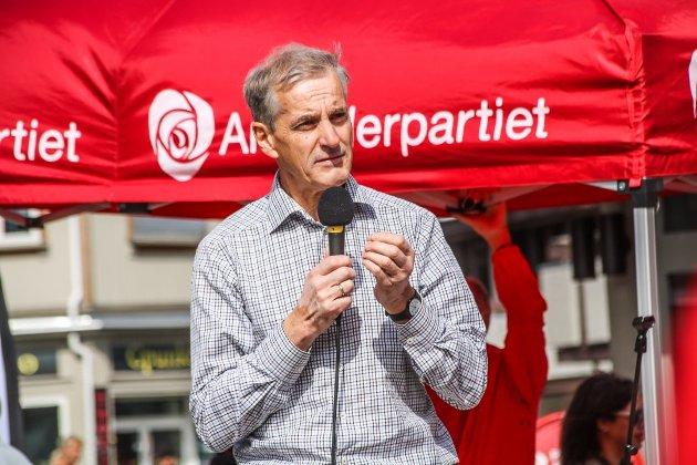 Lyktes ikke: Da Jonas Gahr Støre drev valgkamp i Fredrikstad i sommer lå han an til å bli statsminister. Men så kom motbøren. (Arkivfoto: Joachim Constantin Høyer)