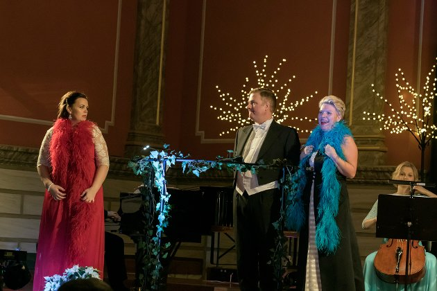 Bilder i fra Nyttårskonsert i Bibliotekets Aula