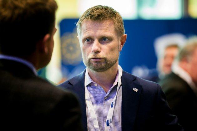 GARDERMOEN  20160408. Helse- og omsorgsminister Bent Høie under Høyres Landsmøte 2016 på Gardermoen, fredag ettermiddag.   Foto: Berit Roald / NTB scanpix
