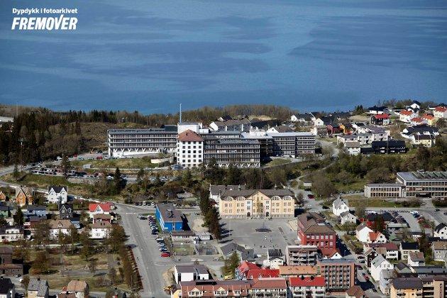 Flyfoto, Narvik sykehus