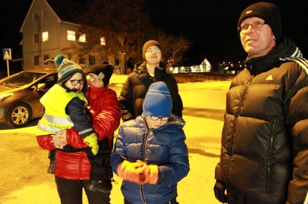 Ann Thorild Fagerli og Tore Fagerli med guttene Ask, Simon og Jone