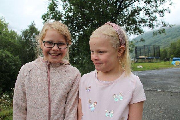 Sofie (9) og Live (7) våknet opp til et kjempedigert hull utenfor familiens hjem tirsdag morgen.