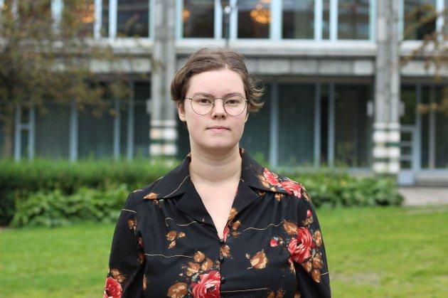 Gunnhild Skjold frå Tromsø er leiar i Norsk Målungdom.