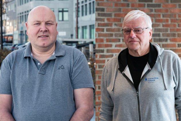 Jørn Jønsberg (t.v) og Øystein Røsland (t.h)