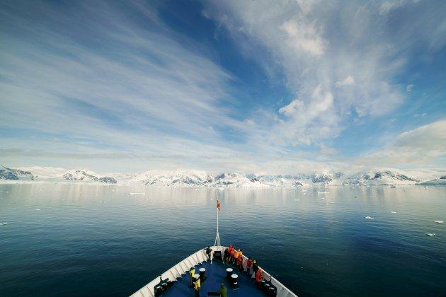 Ship in Antarctica.