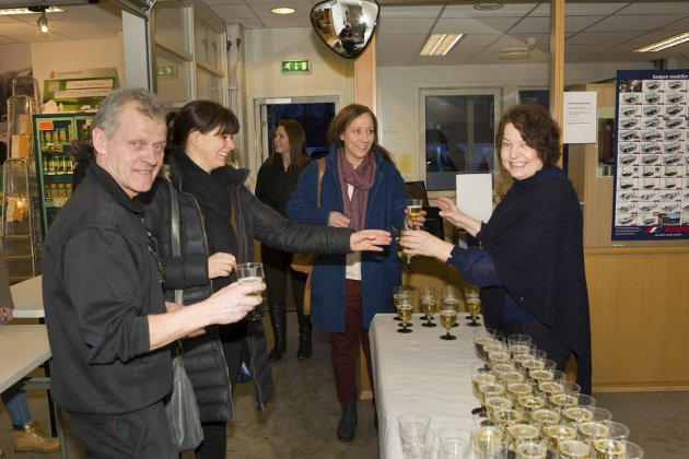 Velkommen: Tor Solbergseter og Anne Breen ønsket velkommen til Cecilie Samways og Hanne Holme.