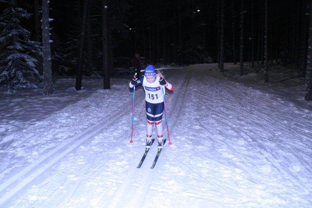 1. plass: Emilie Ruud Lia tok førsteplassen i J11-klassen.
