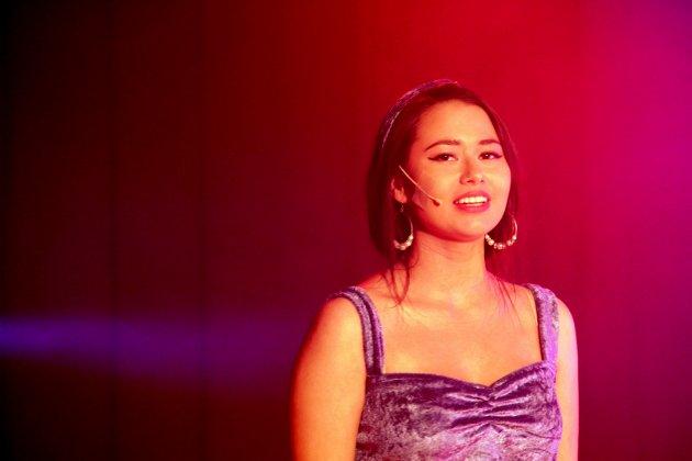 """Andrea Rymoen, her i """"En helt ny jord"""", fra Aladdin, 2012. Teatermiljøet på Holt og Kongsvinger har betydd mye for Andrea, og vært avgjørende for at hun har satset på scenen."""