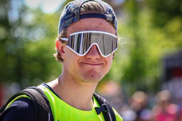 Tidligere juniorverdensmester Oskar Svendsen under NM på sykkel 2015.