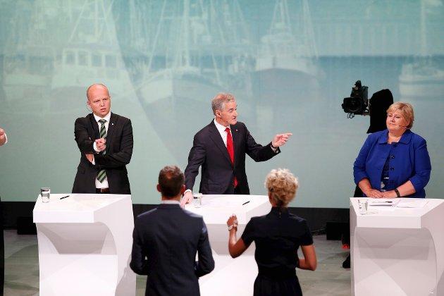 UTFORDRER: Sp-leder Trygve Slagsvold Vedum tar velgere fra både Jonas Gahr Støres Ap og Erna Solbergs Høyre. Nå håper Sp at landsmøtet skal gi partiet et ytterligere løft.