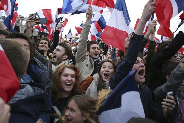 Vinnere: «Hvorfor er den norske vinklingen på fransk politikk så merkelig?»Foto: AP Photo/Thibault Camus  Thibault Camus