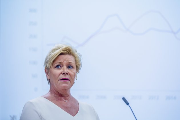 BOM SLITER: Frp-leder Siv Jensen sliter som landets bompengeneral.