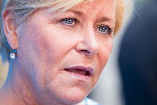 Jubel: Vi jubler med Siv Jensen over økte skatteinntekter i kommunene.