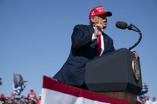 KJEMPER: USA-president Donald Trump bruker de fleste virkemidler for å bli gjenvalgt. 3. november er valgdagen, hvor det avgjøres hvorvidt Trump eller utfordrer Joe Biden skal styre fra Det hvite hus.