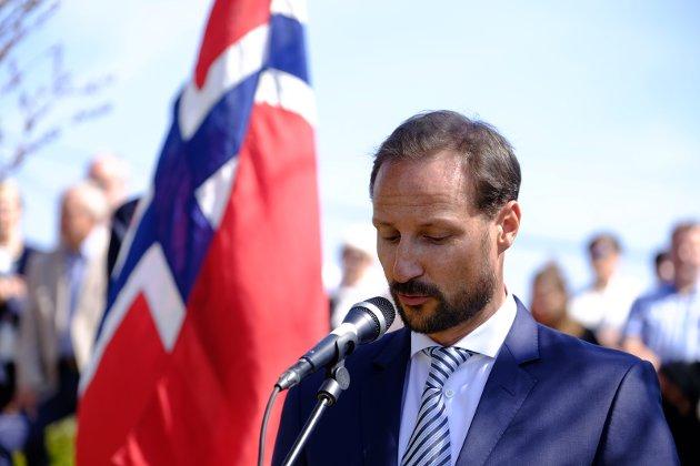 FRIHET: Kronprins Haakon er alltid til stede for å markere frigjørings- og veterandagen. Her fra 2018.