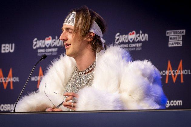KLAR FOR FINALEN: Andreas Haukeland, som tidlig tok eierskap til egne utfordringer ved å velge artistnavnet Tix, er Norges representant i finalen i Eurovision Song Contest lørdag. Foto: Heiko Junge/NTB