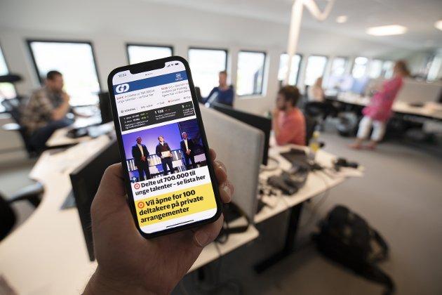 I POSISJON: Gudbrandsdølen Dagningen har 21.500 abonnenter og 55.000 lesere daglig. Avisa har også over 1400 eiere, og disse kan gjennom et mer aktivt eierskap påvirke regionavisas framtid. Foto: Torbjørn Olsen