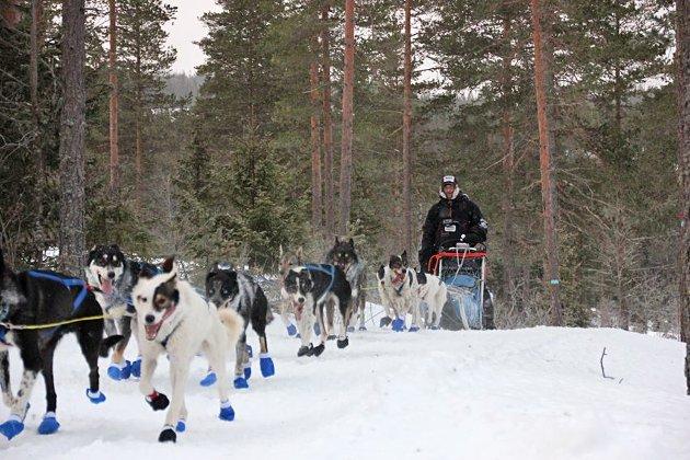Bjørnar Andersen kjørte fortest av alle og tok seieren i åpen klasse. Foto: Monica Celius