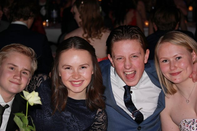 Fra venstre: Sivert Berg, Nora Meli, Marius Roen Hermansen, Ragnhild Ohren