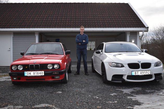 TO: – Jeg kan ikke velge mellom disse to BMW-ene. Begge har sjarm og sjel, sier Martin Dalevoll.