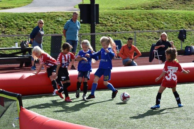 FOTBALL: Glimt fra kampen mellom Hadeland KFK og Harestua.
