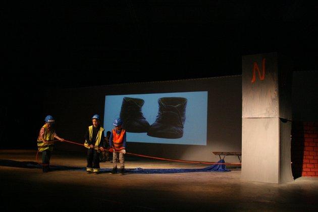 3. trinn presenterte industrihistorien i Halden.