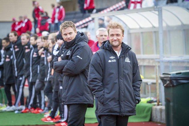 STORE ØYEBLIKK: Kviks trenerduo var fornøyde da FFK ble slått ut av NM, men prestasjonene på banen har blitt svakere fram mot sommeren.Arkivbilde.