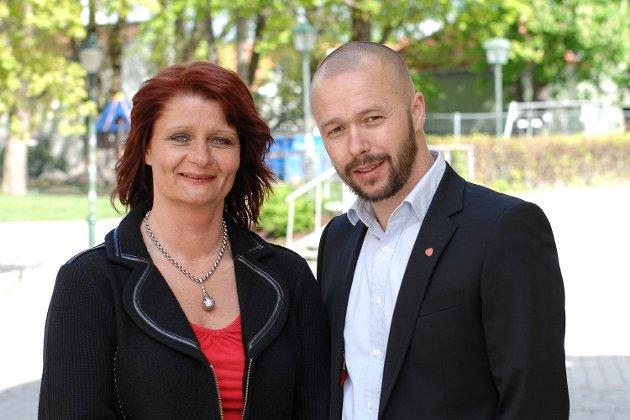 «BORGERKRIG»: Partileder Kirsti Brække Myrli og gruppeleder Arve Sigmundstad har stått i en tøff tid.