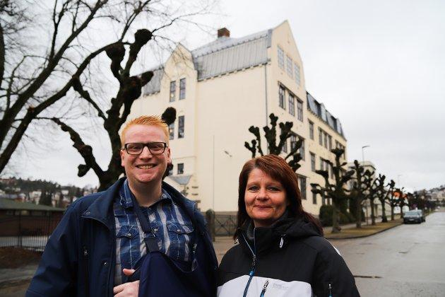 Fornøyde: Vi formoder at Fredrik Holm (H) og Kirsti Brække Myrli Ap) er  fornøyde med resultatene i HAs spørreundersøkelse.