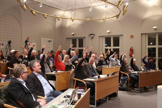 POLITIKK: Fra kommunestyresalen i rådhuset.