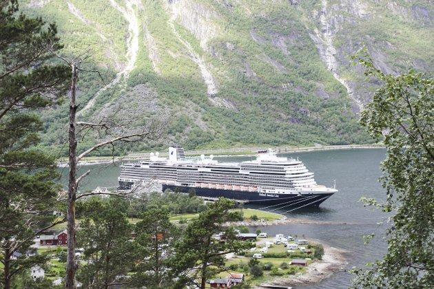 Aukar mest: Eidfjord er den cruisehamna i Noreg med størst auke i talet på besøkande i 2017.