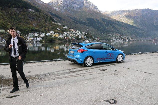 Evald Jåstad, RS-taxi, Det blåa lynet. Filminnspilling, reklame Hardanger, Odda taxi.