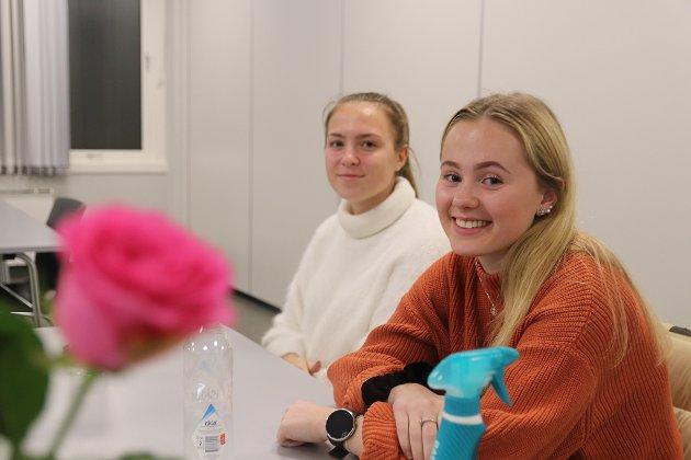 Tea Schartner og Veslemøy Olsson er 18 år og fortalte blant annet hvor viktig skolen var for bygda og for 4H-klubben i Skare. - Vi er 18 år og skal bort fra den trygge bygda vår for å høste nye erfaringer. Men vil vi komme tilbake når bygda slik vi kjenner den blir borte? Vi vil at de neste generasjonene skal få oppleve det samme som oss, sa de to,