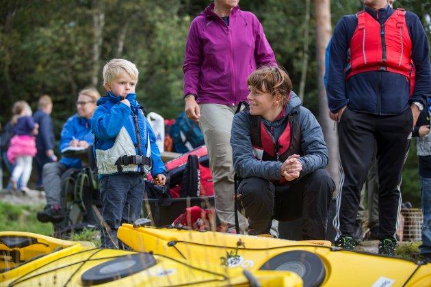 Karen Helgeland Qvale  og sønnen Håvard Qvale Løvstad (3,5)