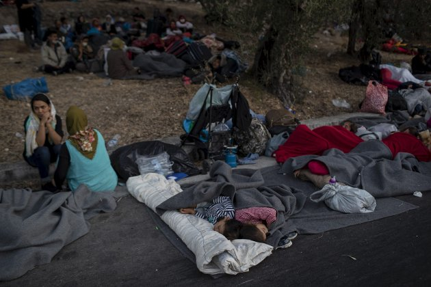 MORIA: Det gikk fra vondt til verre for flyktninger og migranter i Hellas.FOTO: NTB SCANPIX
