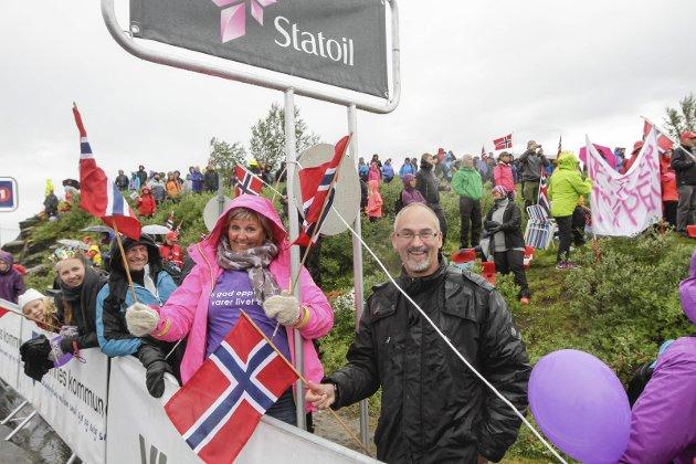 Arctic Race of Norway Målgang på Korgfjellet 3. etappe. Stinn brakke ved målgang selv om det var regn storparten av dagen. Bilder: Per Vikan