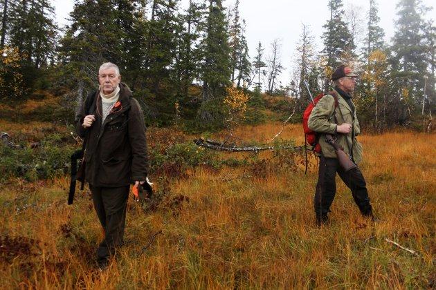 Elgjakt med jaktlaget Kor e' aljen? Johan Lind og Svein Øyen