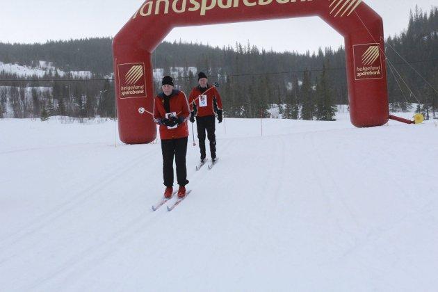Deltok igjen: Johan og Sverre Kulstad deltok for 46.gang på Hjartfjellrennet.