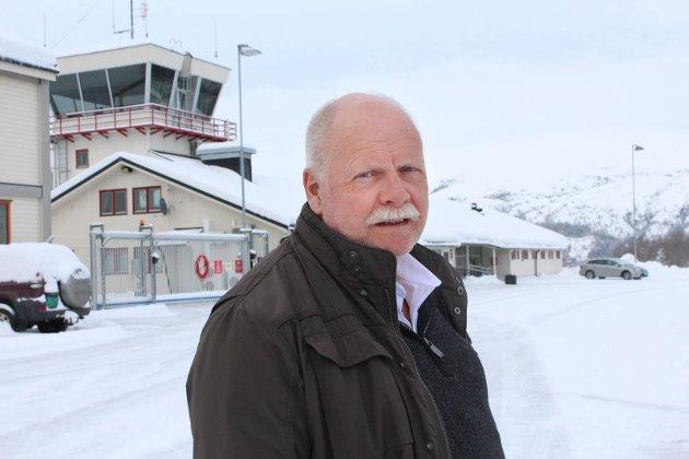 jann-Arne Løvdahl, ordfører i Vefsn, Mosjøen lufthavn, Kjærstad