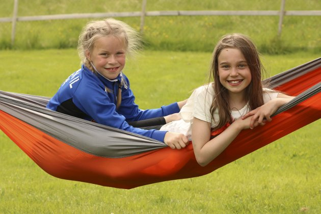 Basecamp med Barnas turlag på Holmen gård Maja Thomassen og Annabell Pettersen