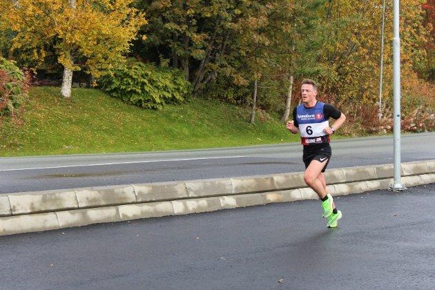 Tommy Thrana på vei inn til andreplass på 31,30.
