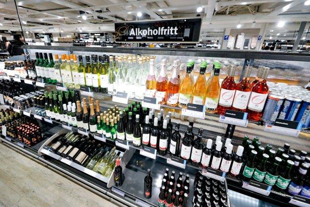 OSLO  20190124. Salget av alkoholfrie varer hos Vinmonopolet har økt betraktelig.  Foto: Fredrik Hagen / NTB scanpix
