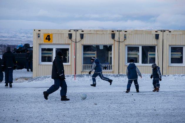 Arkivfoto fra  Vestleiren, ankomstsenteret for flyktninger i Kirkenes.