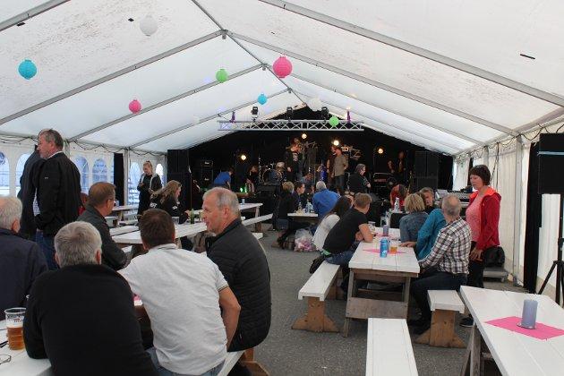 Ritz-teltet under åpningsdagen. Kirkenesdagene 2017.