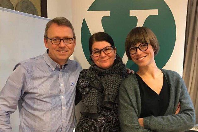 PÅ LAG FOR NORD-NORGE: MortenSkandfer, Stortingskandidat for Venstre i Troms, TrineNoodt, Stortingskandidat for Venstre i Finnmark og Ida Gudding Johnsen, Stortingskandidat for Venstre i Nordland.
